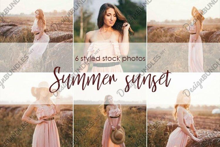 Beautiful romantic model girl lifestyle sunset rays backlit