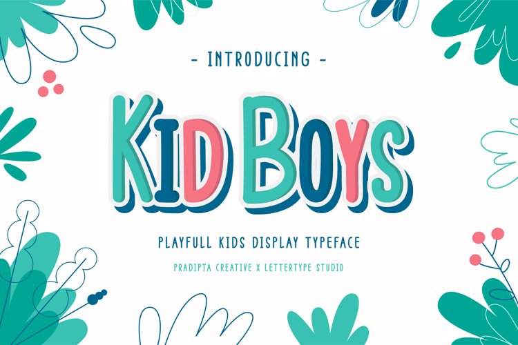 Kid Boys - Playful Font example image 1