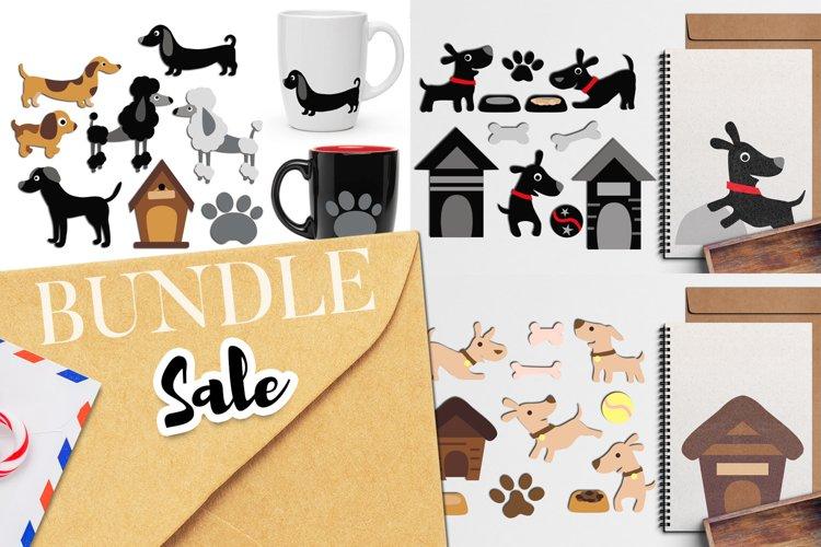 Dogs clip art illustrations bundle