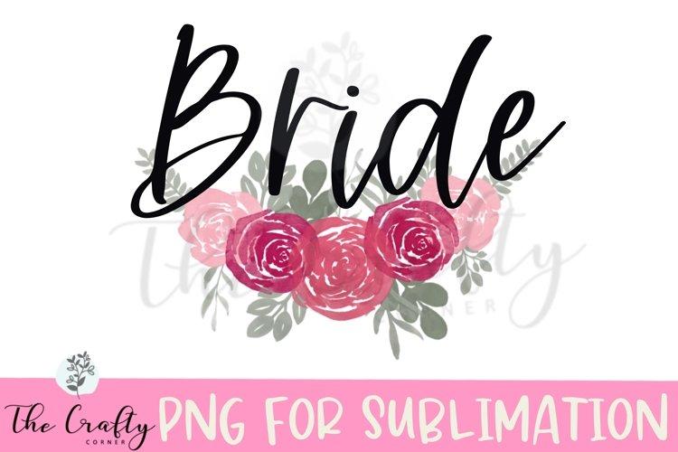 Bride Sublimation Design example image 1