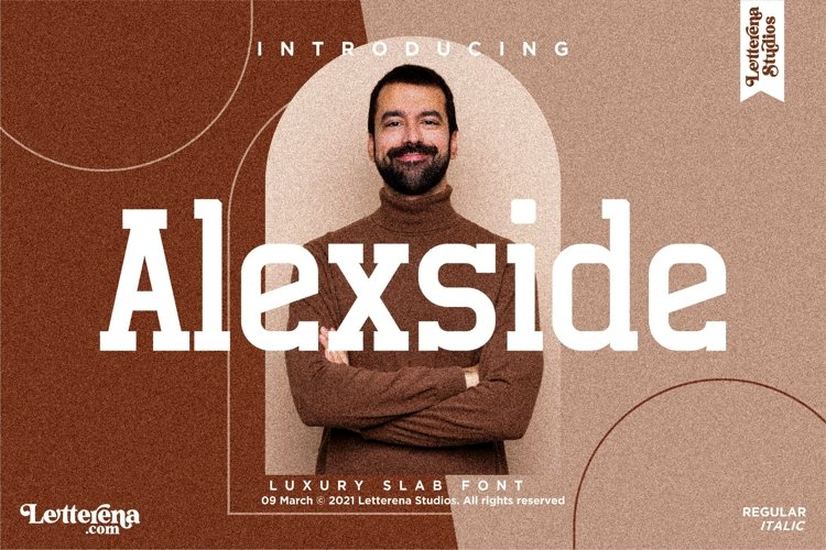 Alexside - Premium Slab Font example image 1