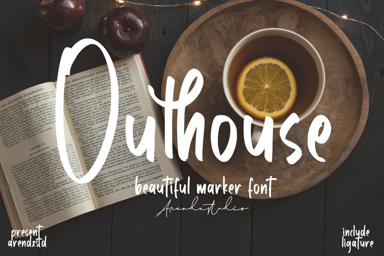 Outhouse - Marker Font example image 1