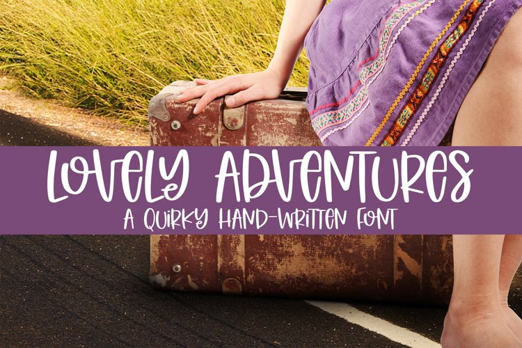 Lovely Adventures - A Quirky Hand-Written Font example image 1