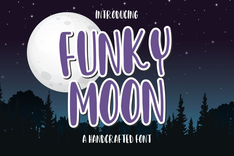 Funky Moon - a handwritten fun font example image 1