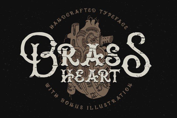 Brass heart font example image 1