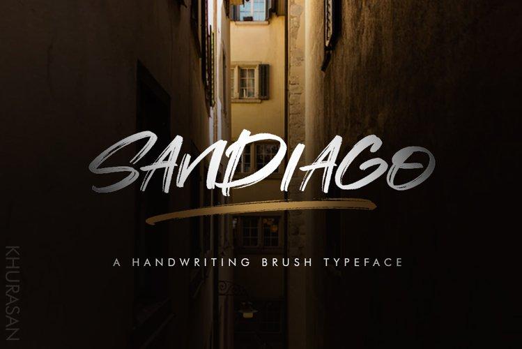 Sandiago Brush Font example image 1