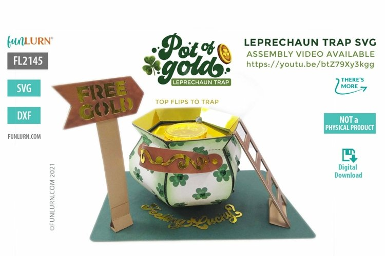 3D Leprechaun Trap SVG , Leprechaun Trap that actually works