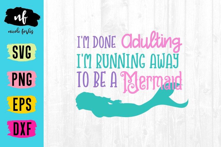 Mermaid SVG Cut File example image 1