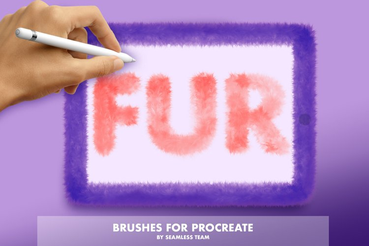 FUR BRUSHES FOR PROCREATE example image 1