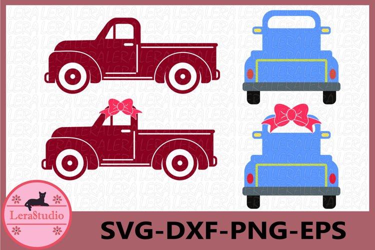 Truck Svg, Backwards Truck Svg example image 1
