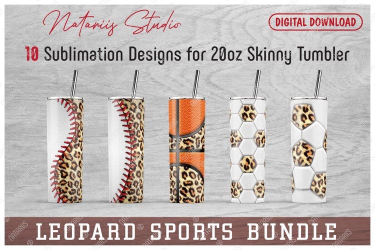 10 Leopard Sports Patterns for 20oz SKINNY TUMBLER.