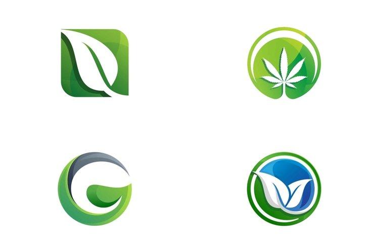 Leaf logo design templates example image 1