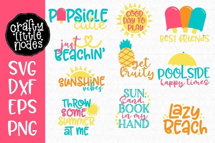 Summer Svg Cut File Mini Bundle - 10 Fun Summer Designs!
