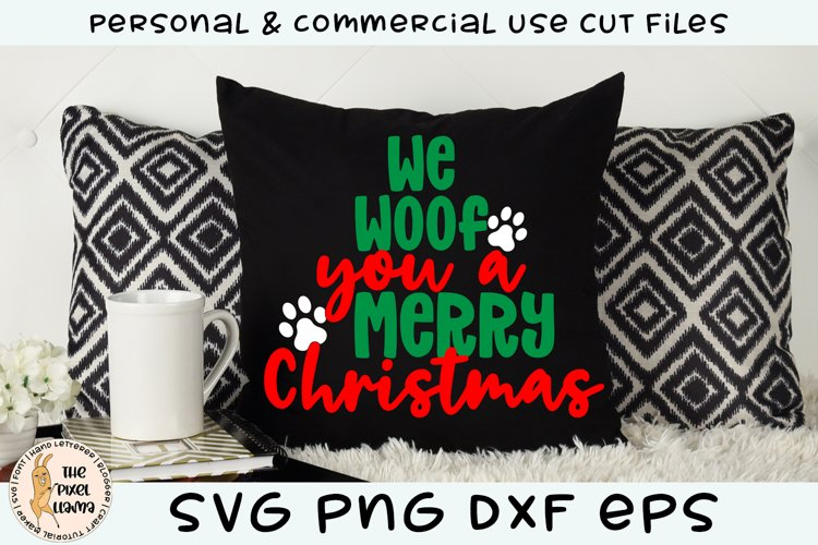 We Woof You A Merry Christmas Dog SVG