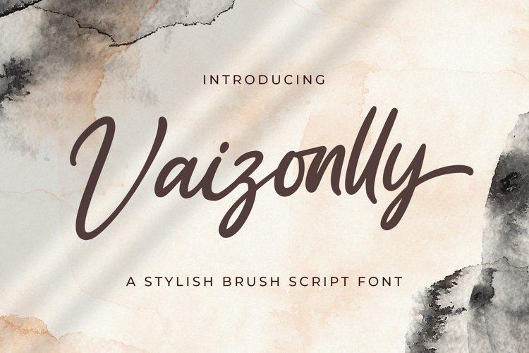 Vaizonlly - Bold Script Font example image 1