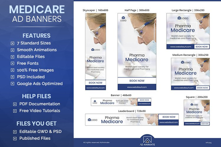 Medicare Banner - Html5 Animated Ad Template example image 1