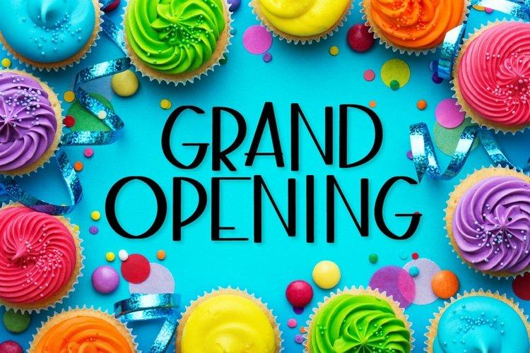 Grand Opening - A Fun Sans Serif Caps font! example image 1