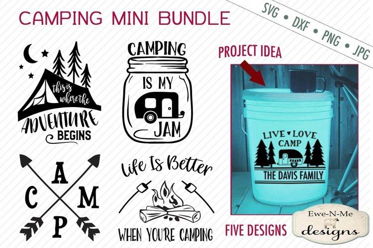 Camping Bundle - Camping Bucket - Camping - Summer - SVG example image 1