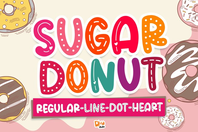 Sugar Donut Crafty Deluxe Package Font! example image 1