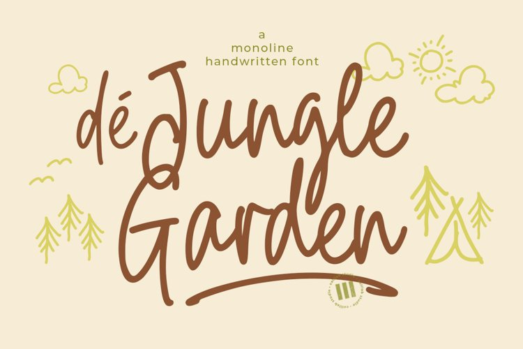 De Jungle Garden - A Monoline Handwritten Font