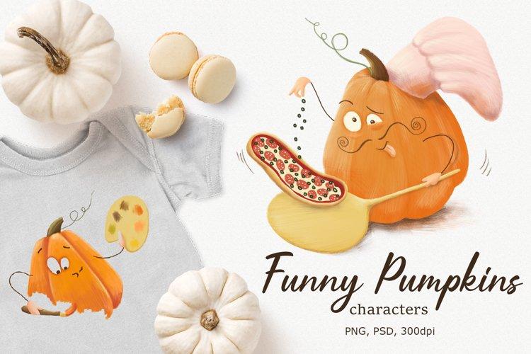 Halloween Pumpkins character clipart