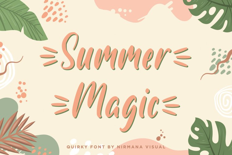 Summer Magic - a quirky font example image 1