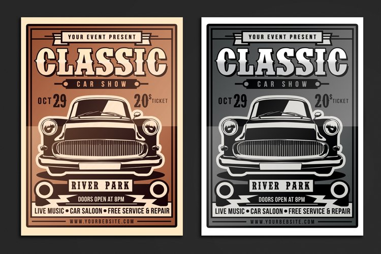 Classic Car Show Flyer example image 1