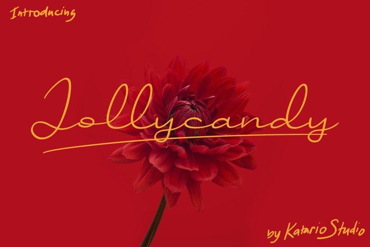 Jollycandy | Handwritten Script Font example image 1