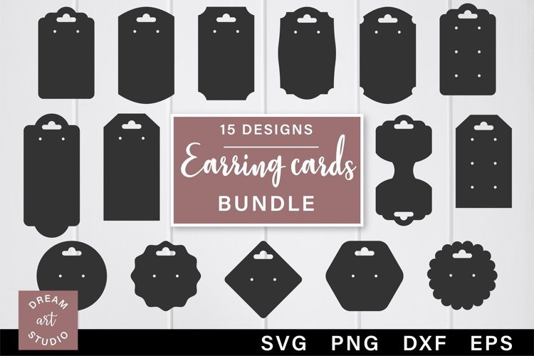 Earring cards svg bundle Jewelry display svg Earring holder