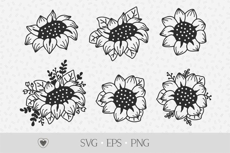 Sunflower svg bundle, flower svg, floral png example image 1