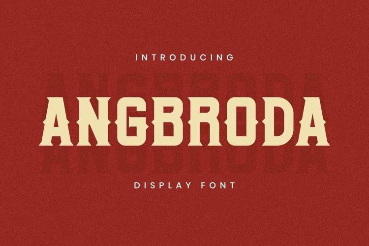Web Font Angrboda Font example image 1