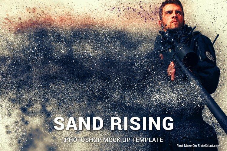 Sand Rising Photoshop Mock-ups example image 1