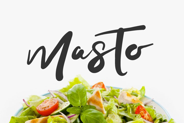 Masto Typeface example image 1