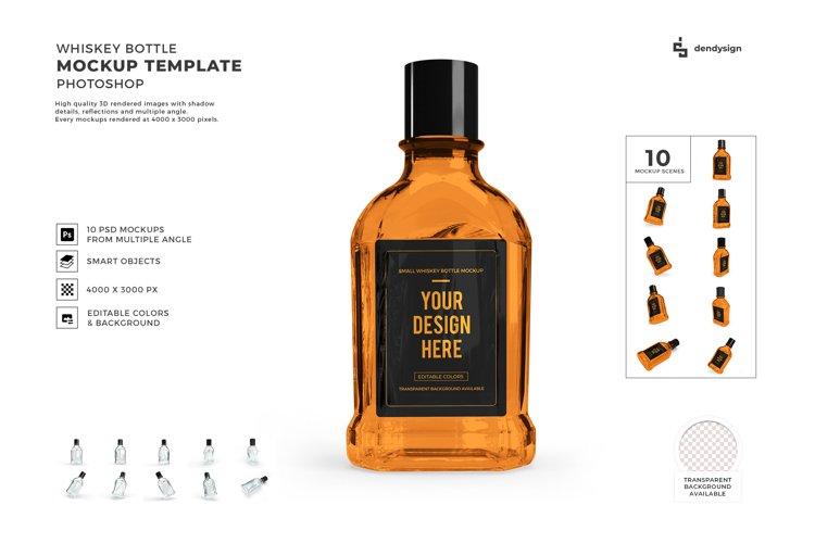 Whiskey Alcohol Glass Bottle Mockup Template Bundle