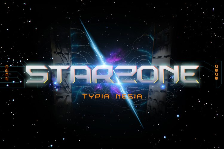 Starzone - SciFi Game Font example image 1