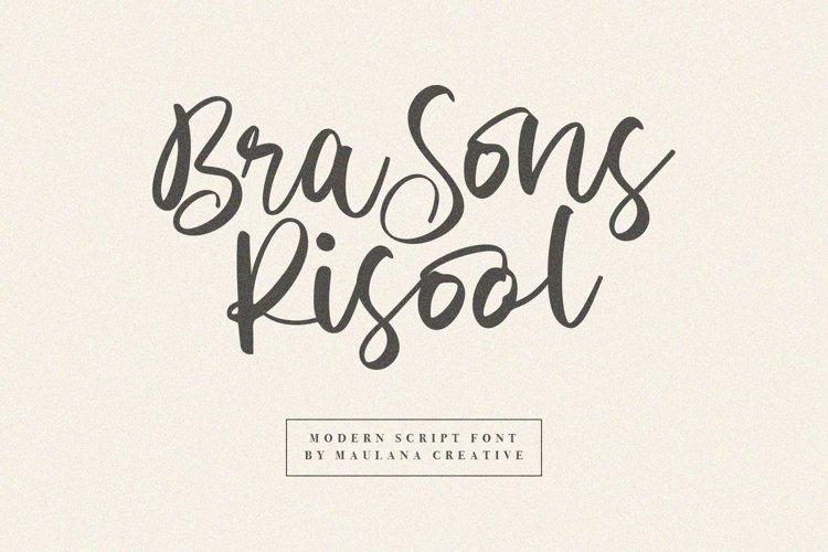 Brasons Risool Modern Script Font example image 1