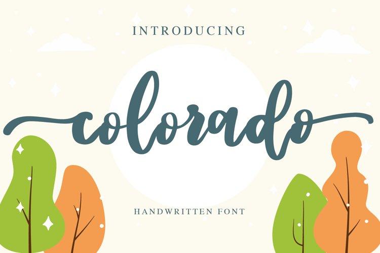 colorado - handwritten font example image 1