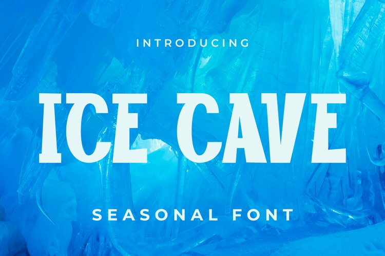 Ice cave Font