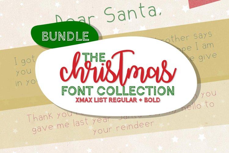Christmas Font Bundle - A festive collection sans serif font