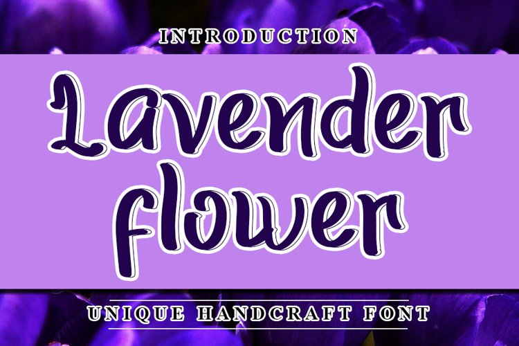 Lavender Flower - Modern Handwritten Font example image 1
