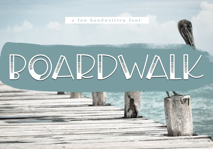 Boardwalk - A Fun Handwritten Font - Free Font of The Week Font