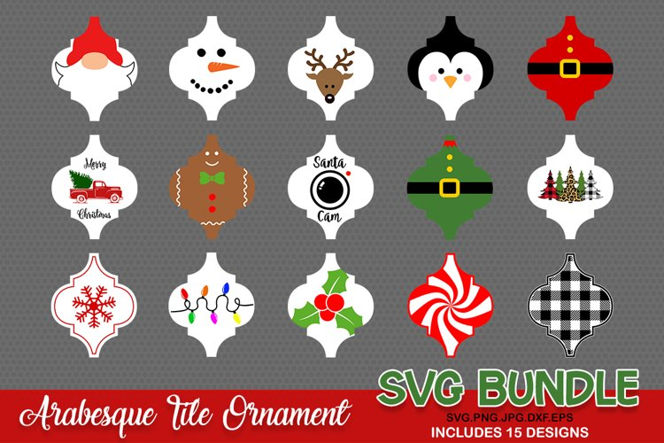 Arabesque Tile Ornament SVG, Christmas Ornament svg