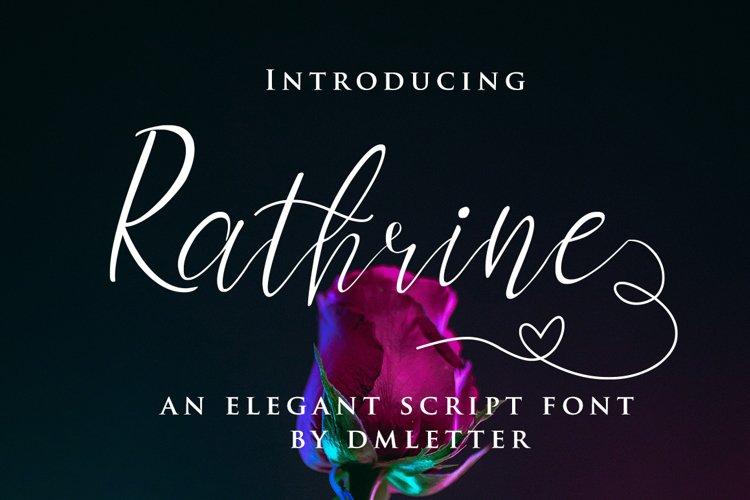 Rathrine - Elegant Script Font example image 1