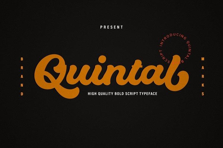 Quintal Bold Logotype example image 1