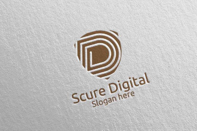 Secure Digital Letter D Digital Marketing Logo 78 example image 1