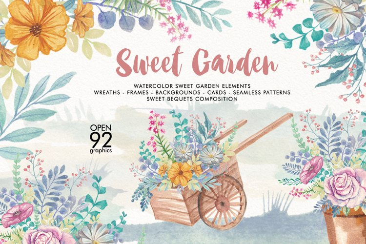 Watercolor Sweet Garden
