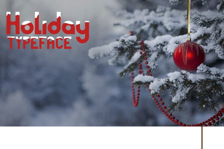Holiday typeface example image 1