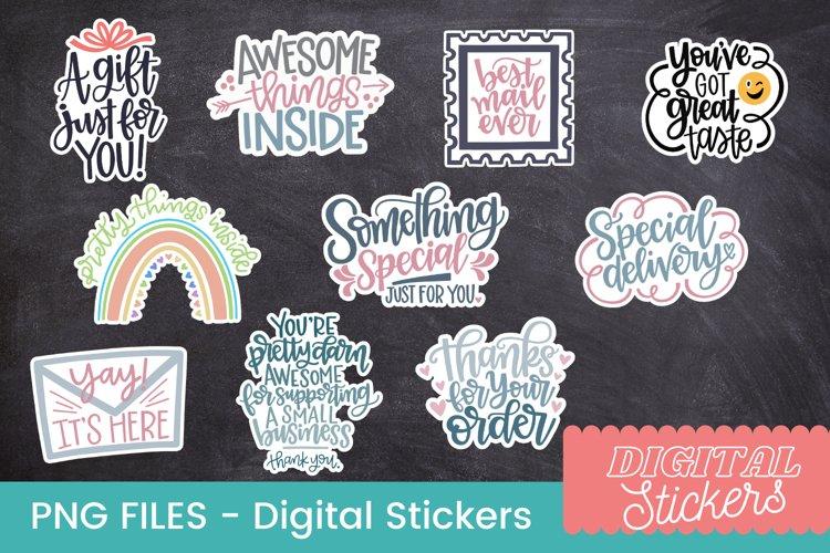 Digital packaging stickers, cute digital stickers, PNG FILES