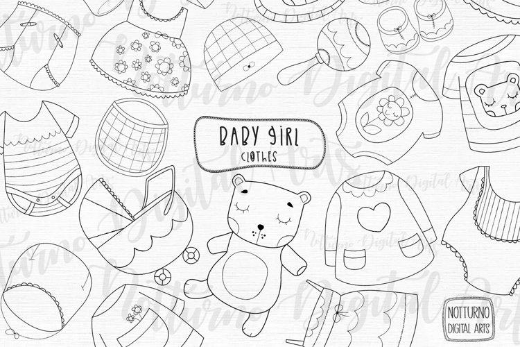 Baby clothes svg digital stamps. Set of 22 svg, png, jpeg example image 1