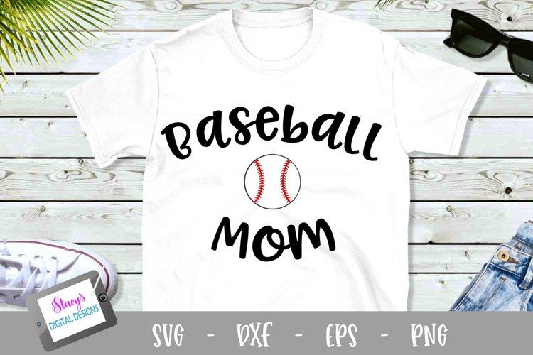 Baseball Mom SVG - Design 2 - Sports Mom SVG file example image 1